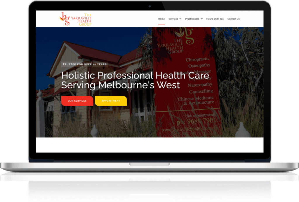 Health care website example