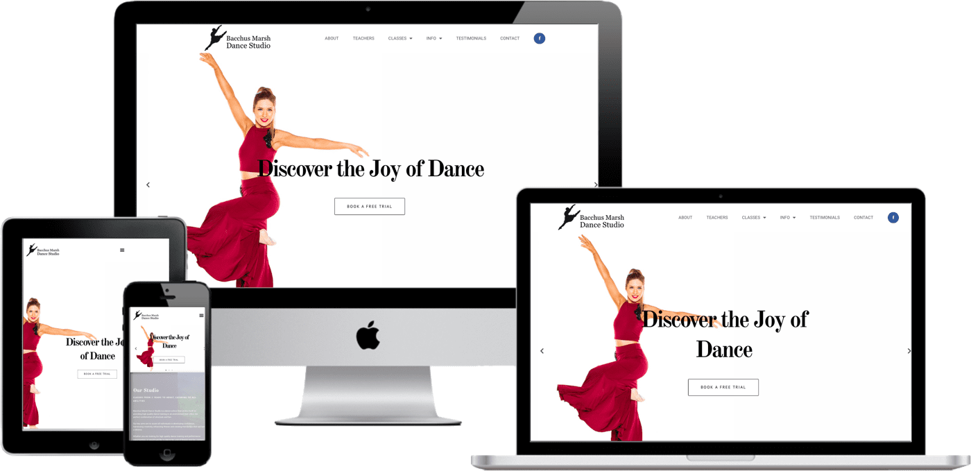 web designer dance studio