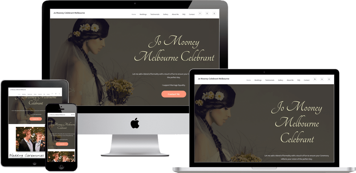 web designer marriage celebrant
