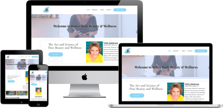 web design health beauty spa